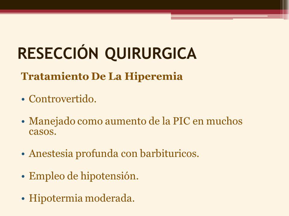 RESECCIÓN QUIRURGICA Tratamiento De La Hiperemia Controvertido.