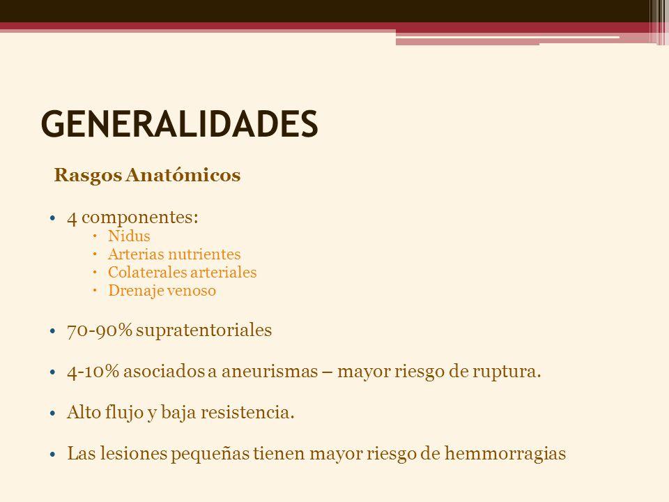 GENERALIDADES Rasgos Anatómicos 4 componentes: 70-90% supratentoriales