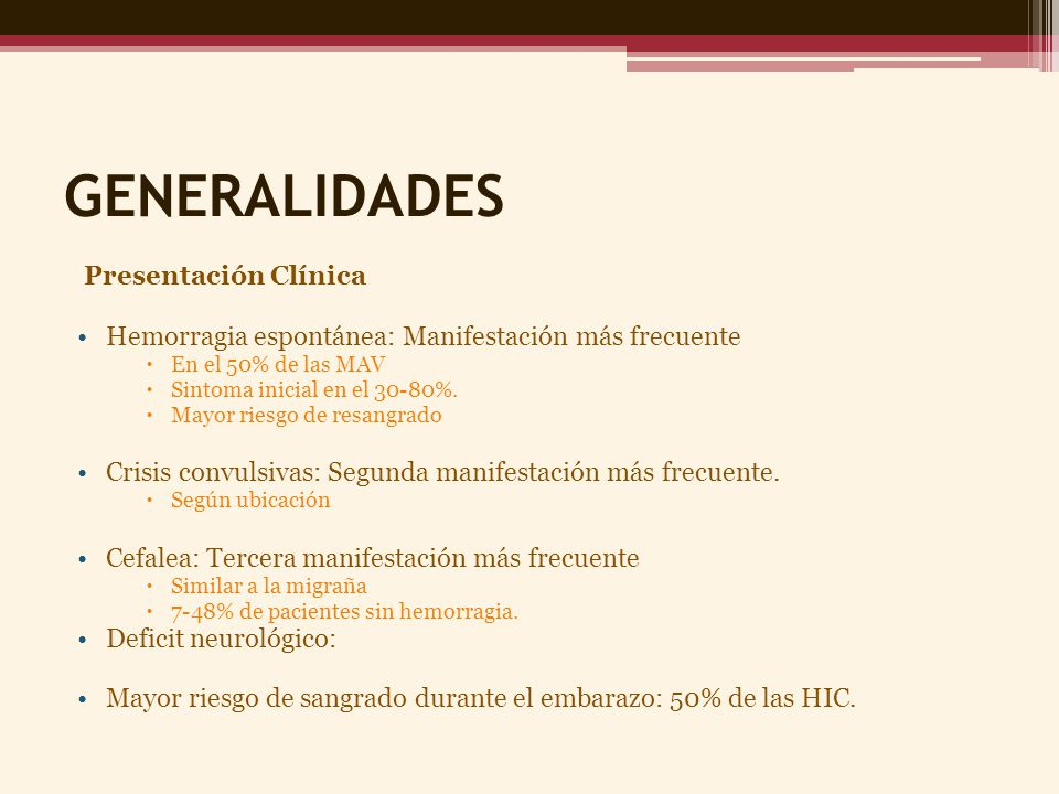 GENERALIDADES Presentación Clínica