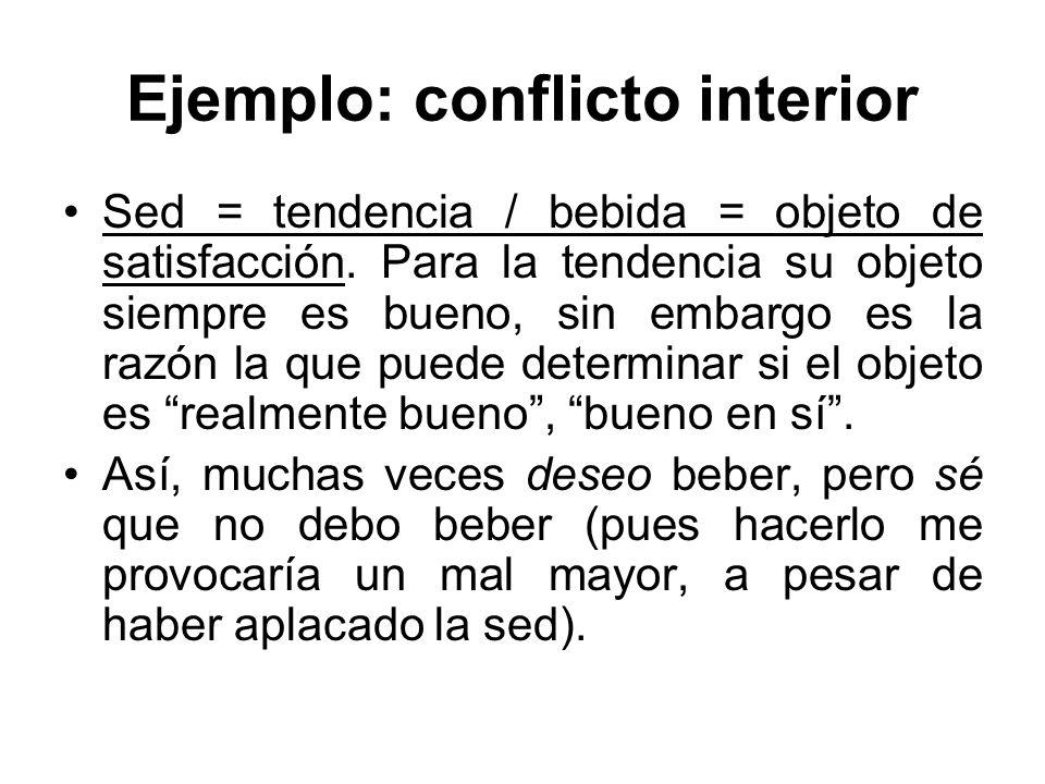Ejemplo: conflicto interior