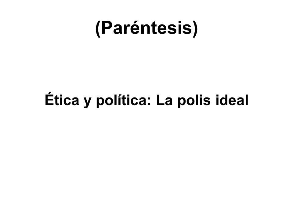 Ética y política: La polis ideal