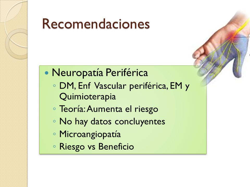 Recomendaciones Neuropatía Periférica
