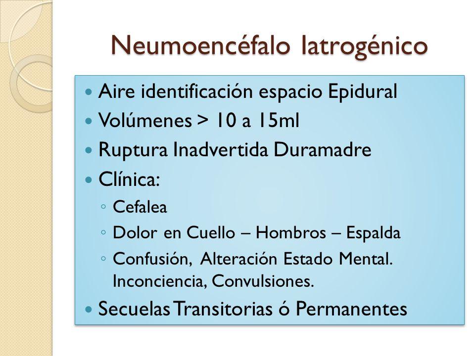 Neumoencéfalo Iatrogénico