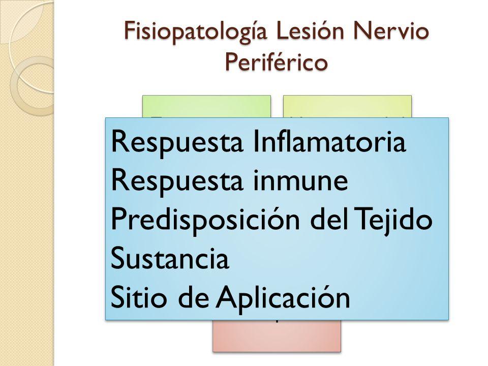 Fisiopatología Lesión Nervio Periférico