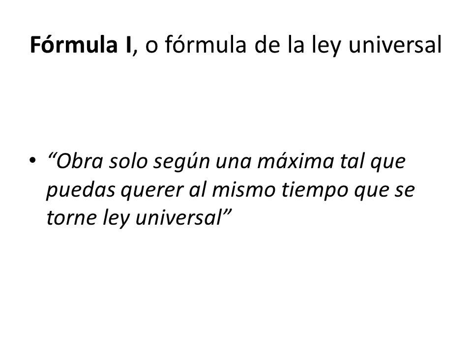 Fórmula I, o fórmula de la ley universal