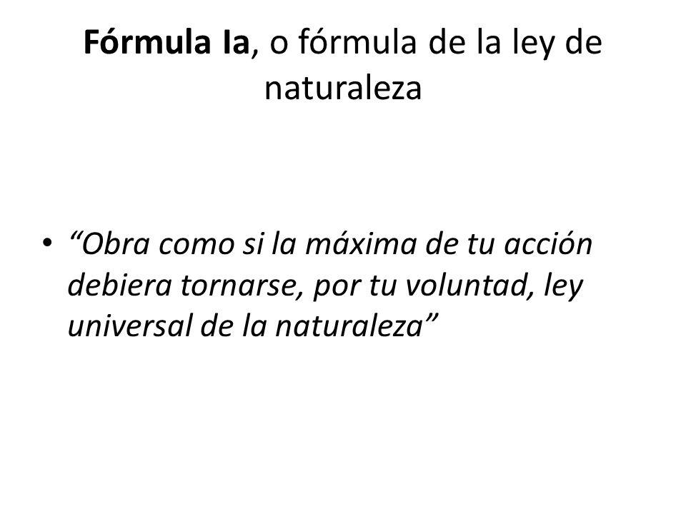 Fórmula Ia, o fórmula de la ley de naturaleza