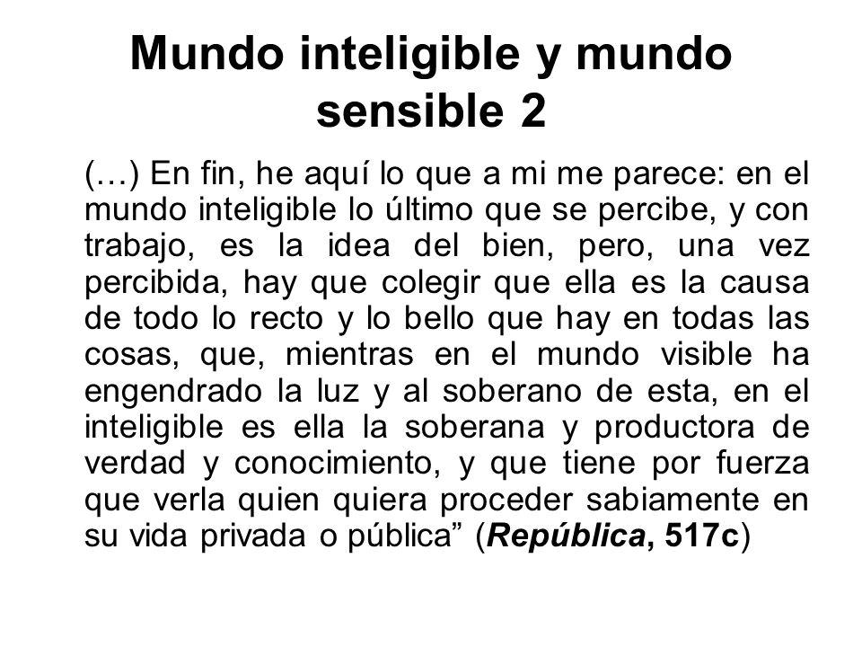 Mundo inteligible y mundo sensible 2
