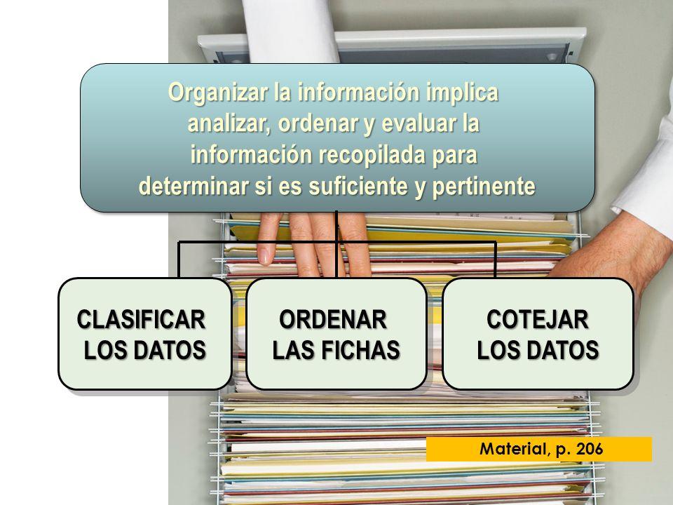 Organizar la información implica analizar, ordenar y evaluar la