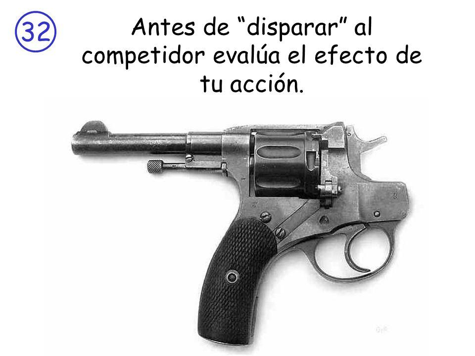 Antes de disparar al competidor evalúa el efecto de tu acción.