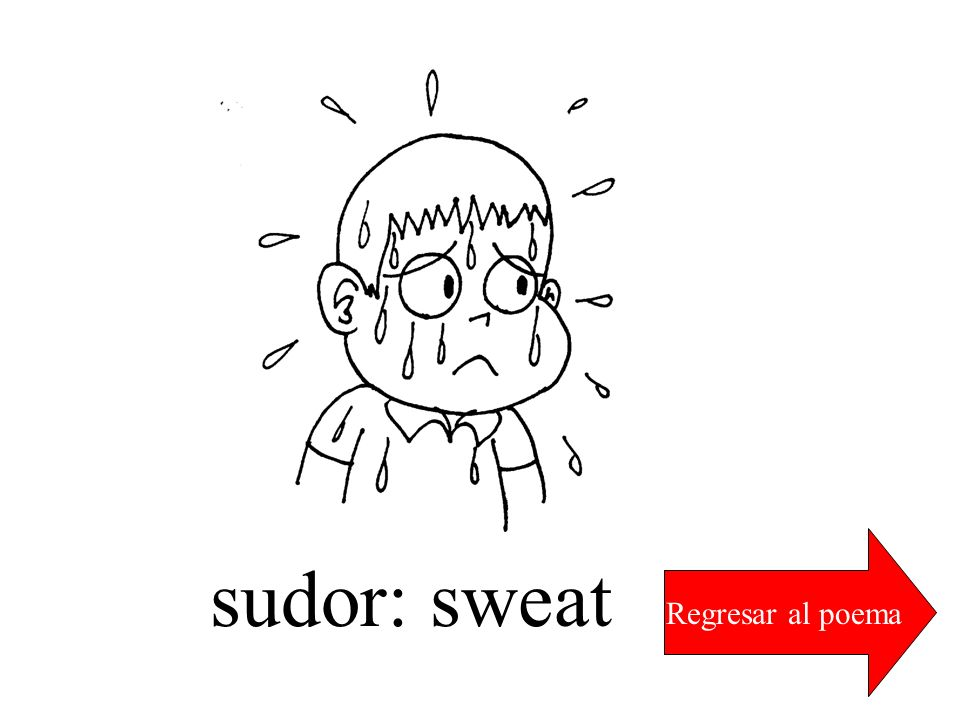 Regresar al poema sudor: sweat