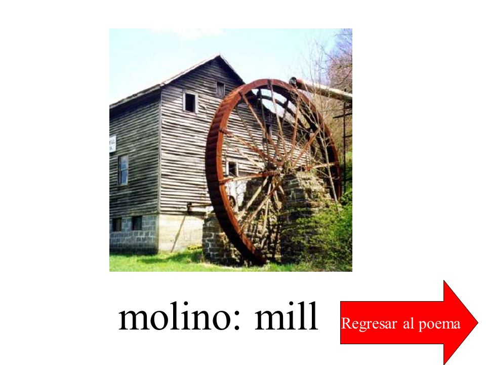 Regresar al poema molino: mill