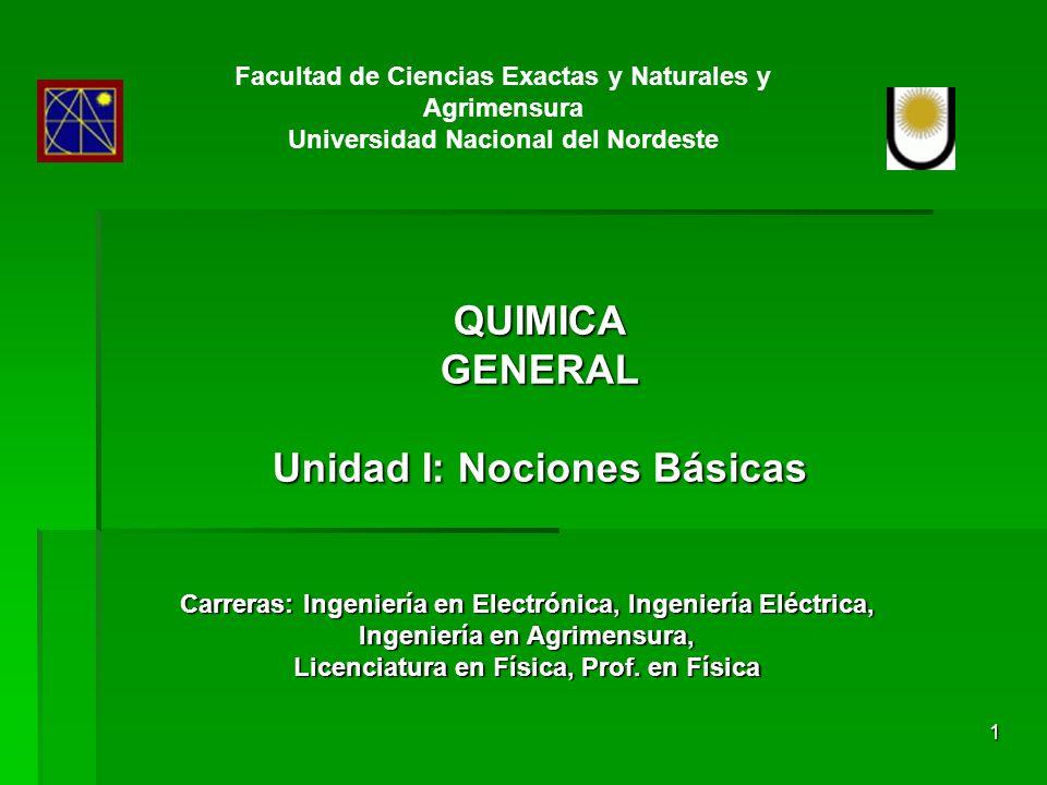 GENERAL Unidad I: Nociones Básicas