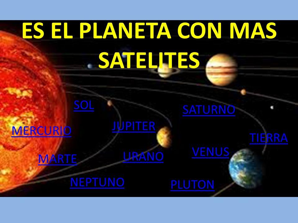 ES EL PLANETA CON MAS SATELITES