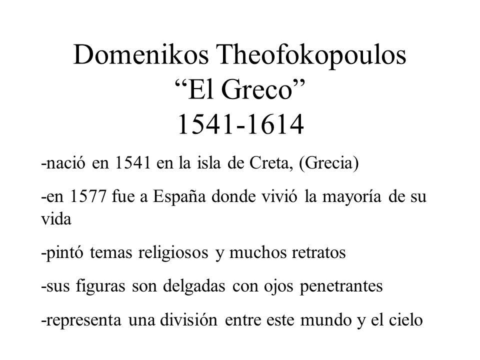 Domenikos Theofokopoulos El Greco 1541-1614