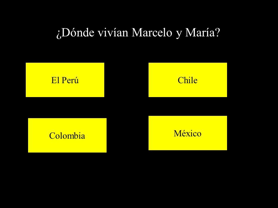 ¿Dónde vivían Marcelo y María