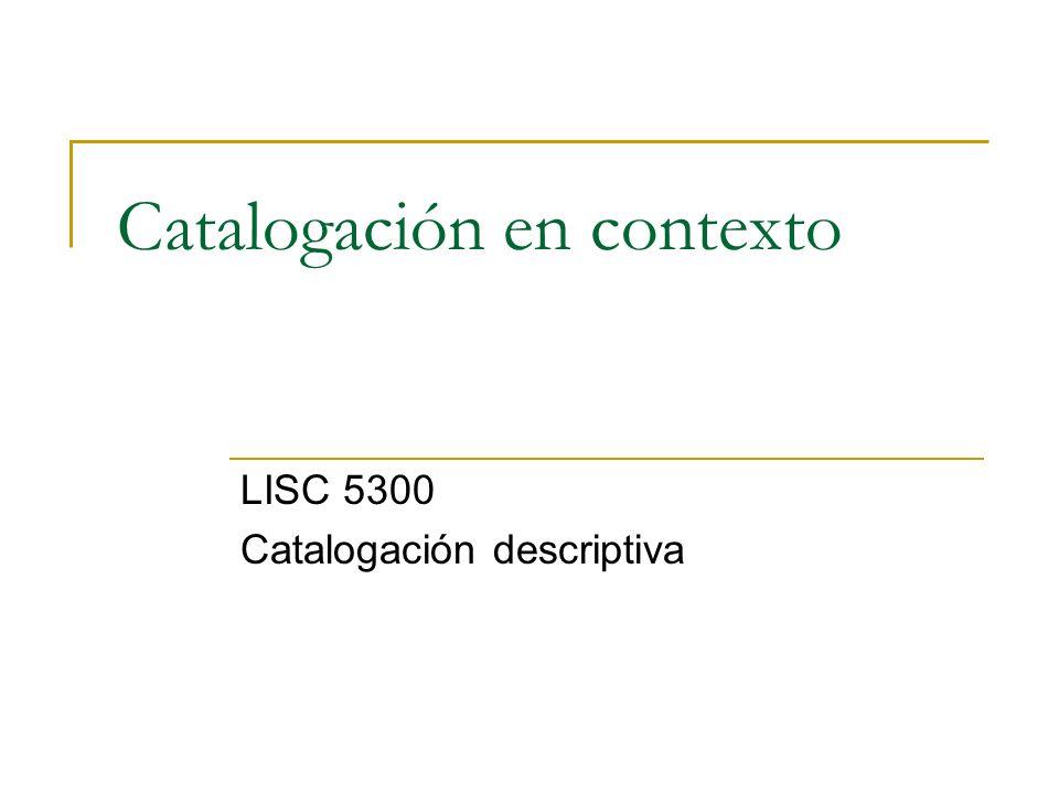 Catalogación en contexto