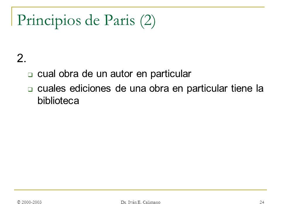 Principios de Paris (2) 2. cual obra de un autor en particular