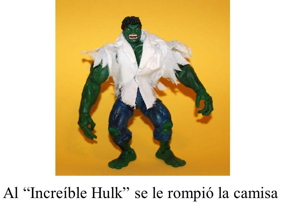 Al Increíble Hulk se le rompió la camisa