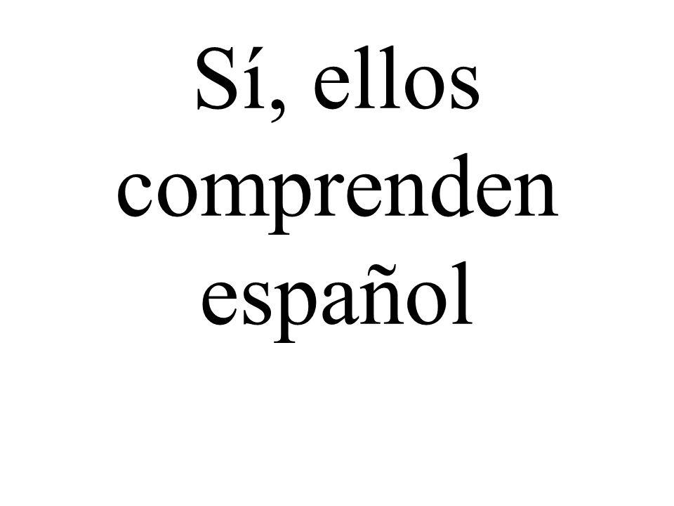Sí, ellos comprenden español