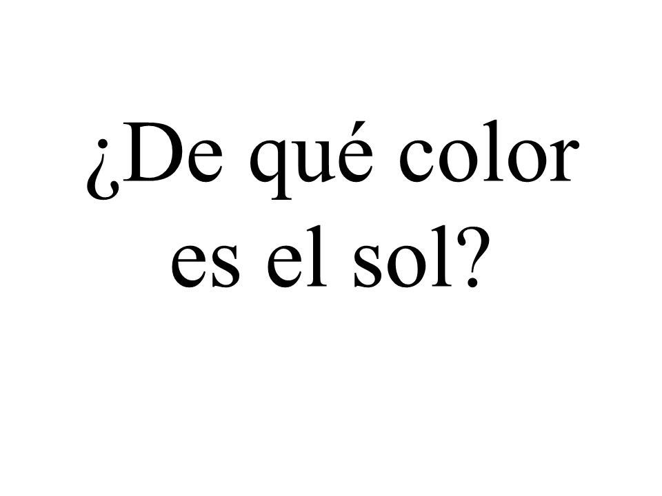 ¿De qué color es el sol