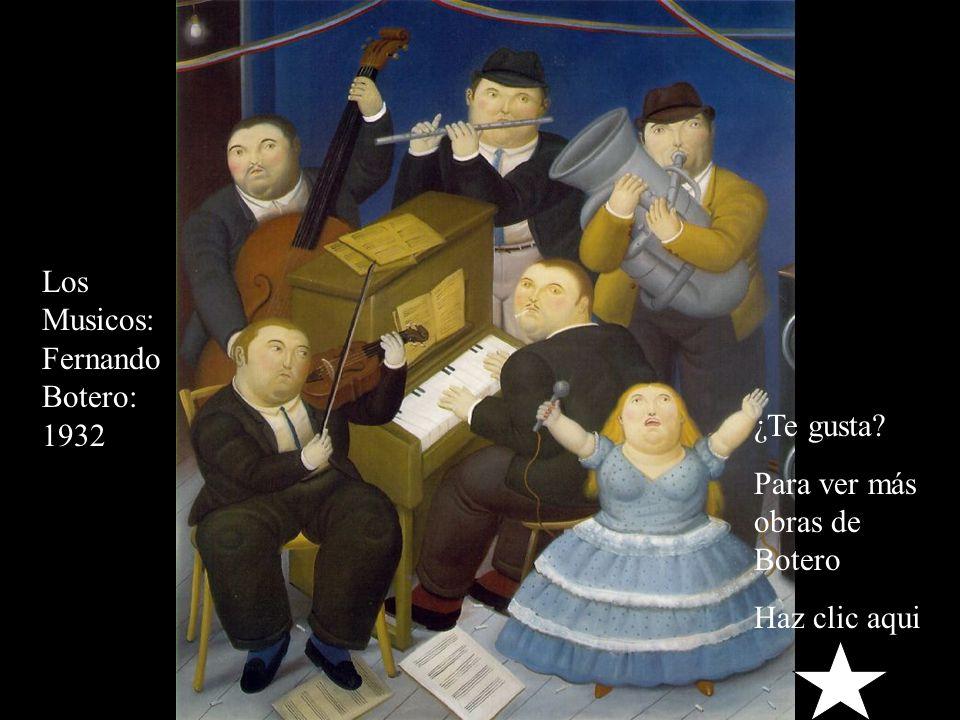 Los Musicos: Fernando Botero: 1932
