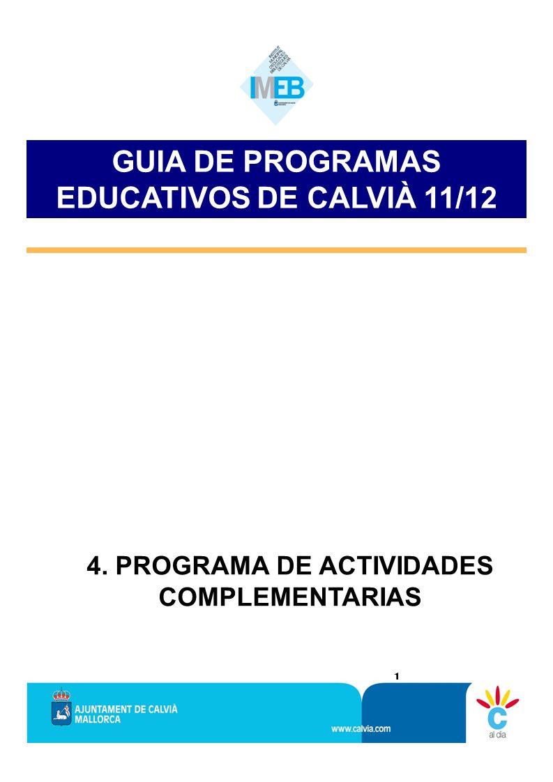 GUIA DE PROGRAMAS EDUCATIVOS DE CALVIÀ 11/12