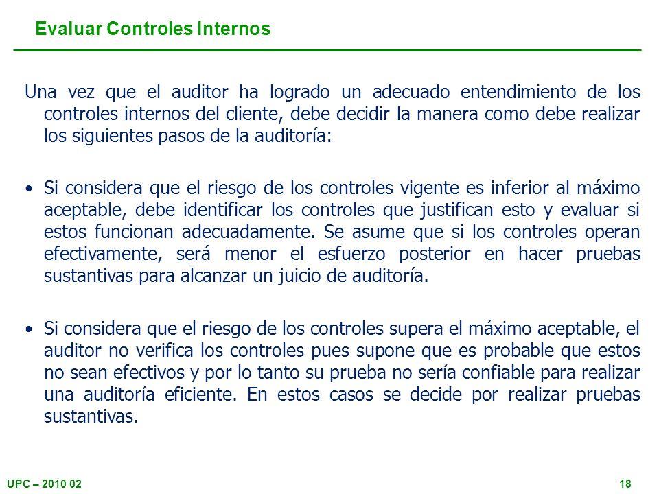 Evaluar Controles Internos