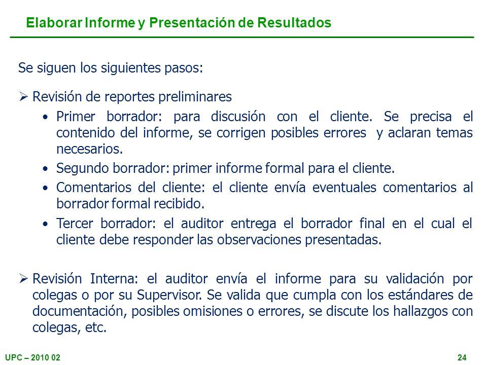 Elaborar Informe y Presentación de Resultados
