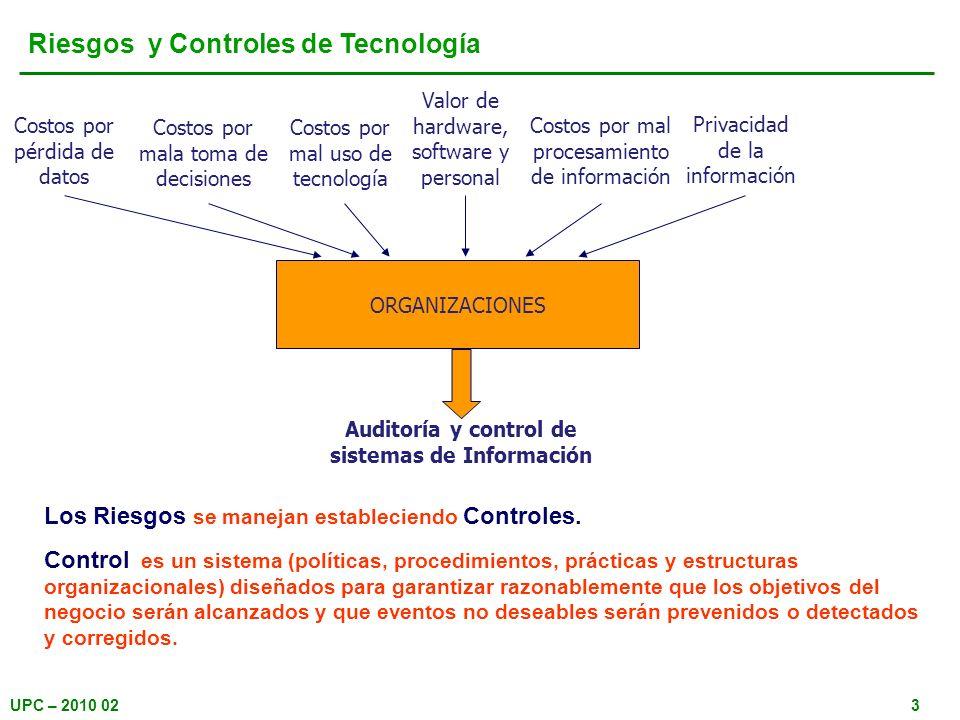Auditoría y control de sistemas de Información