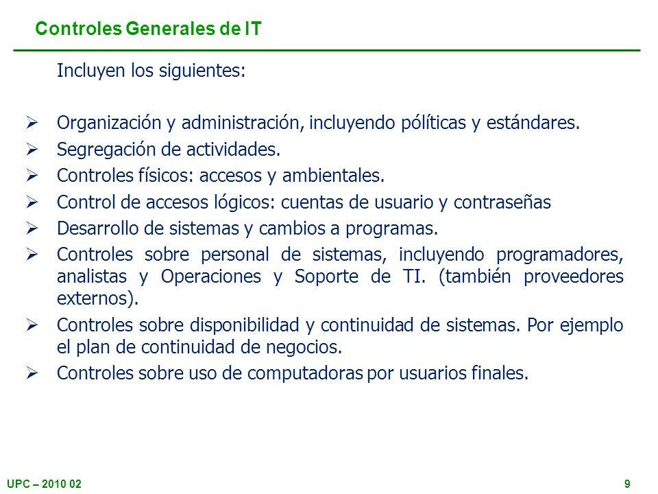 Controles Generales de IT