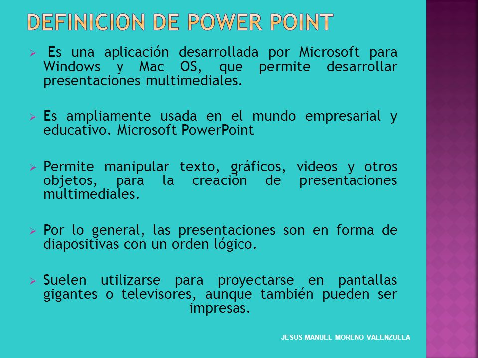 definicion de power point