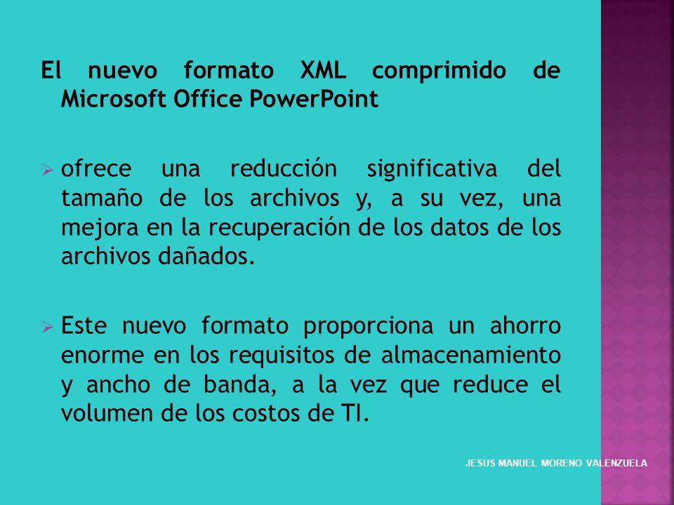 El nuevo formato XML comprimido de Microsoft Office PowerPoint