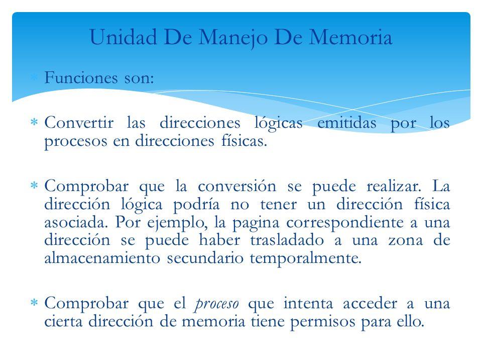 Unidad De Manejo De Memoria