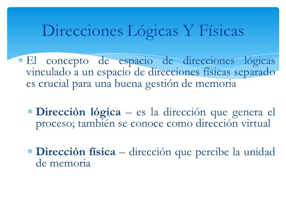Direcciones Lógicas Y Físicas