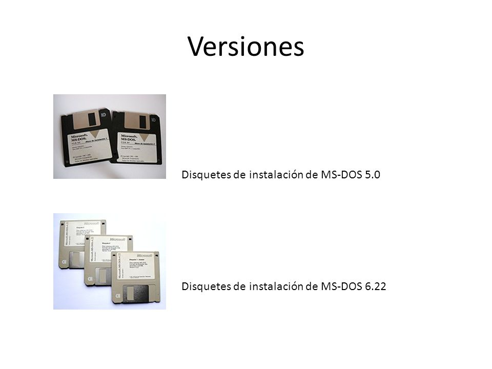 Versiones Disquetes de instalación de MS-DOS 5.0