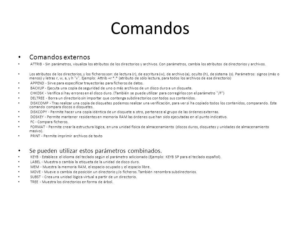 Comandos Comandos externos