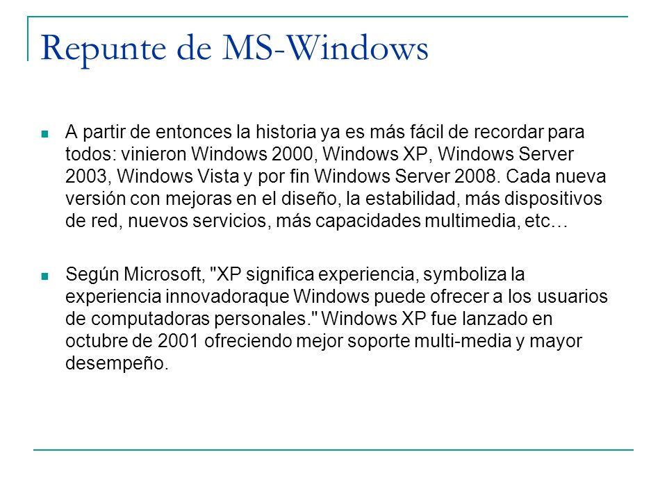 Repunte de MS-Windows