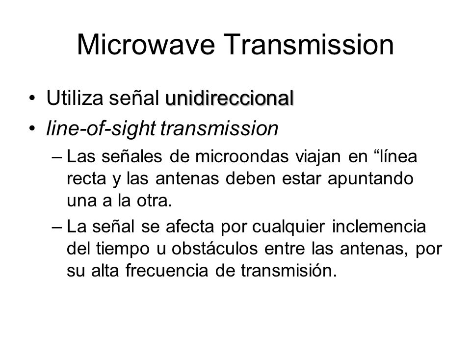 Microwave Transmission