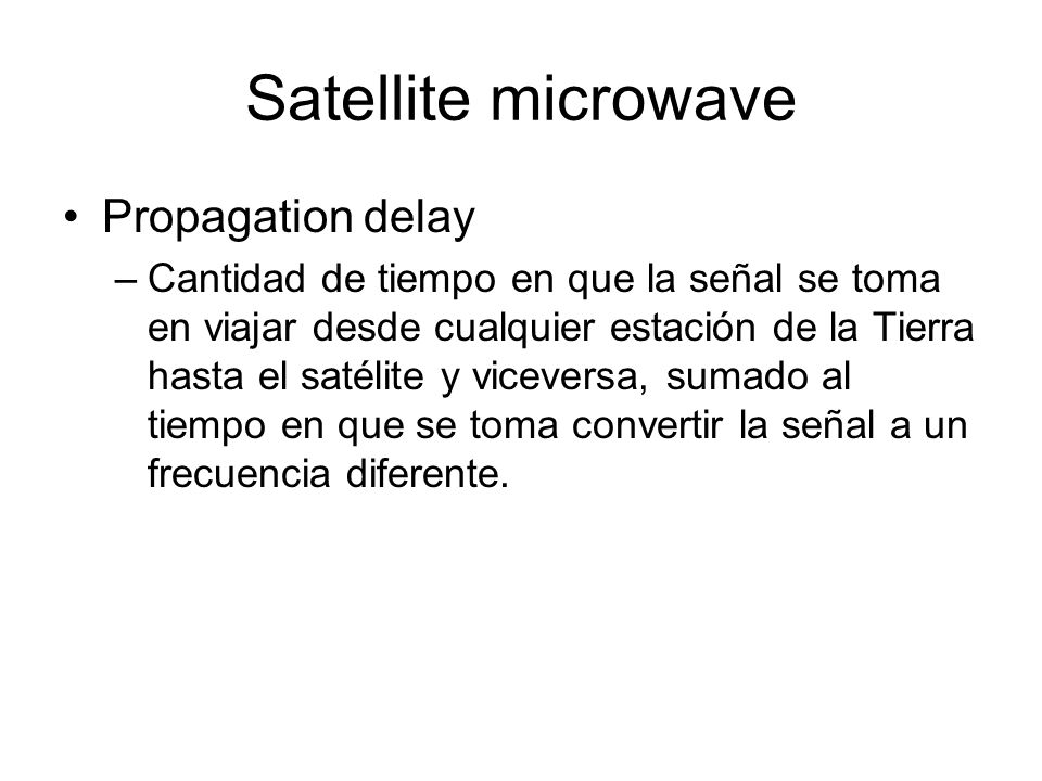 Satellite microwave Propagation delay