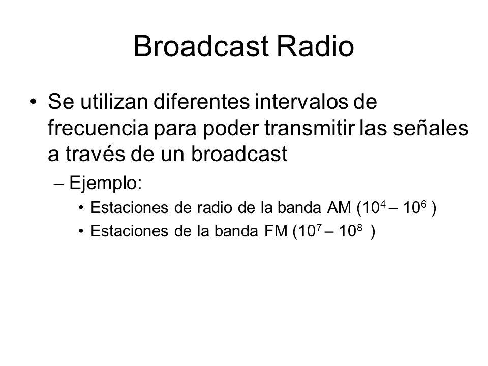 Broadcast Radio Se utilizan diferentes intervalos de frecuencia para poder transmitir las señales a través de un broadcast.