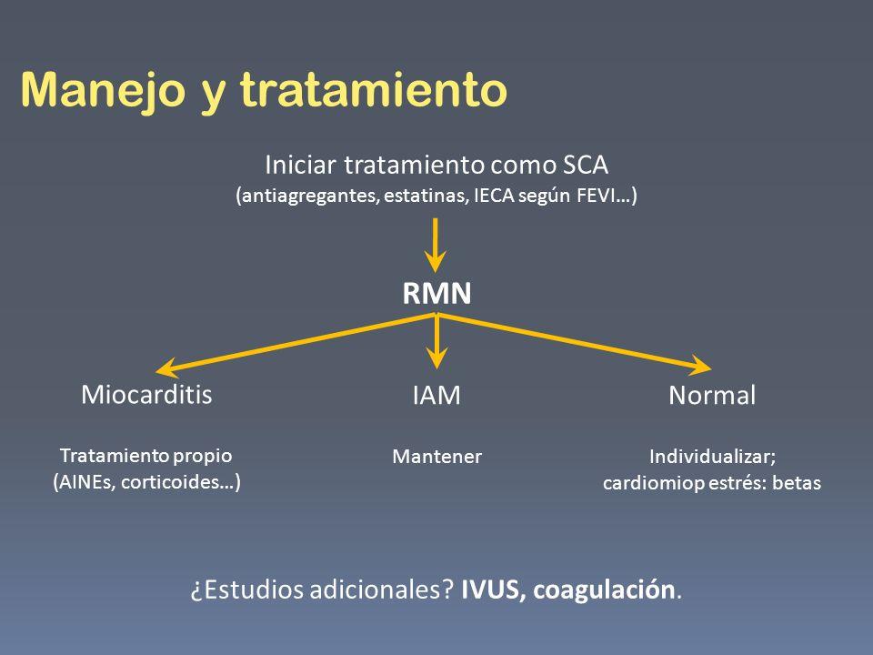Manejo y tratamiento RMN
