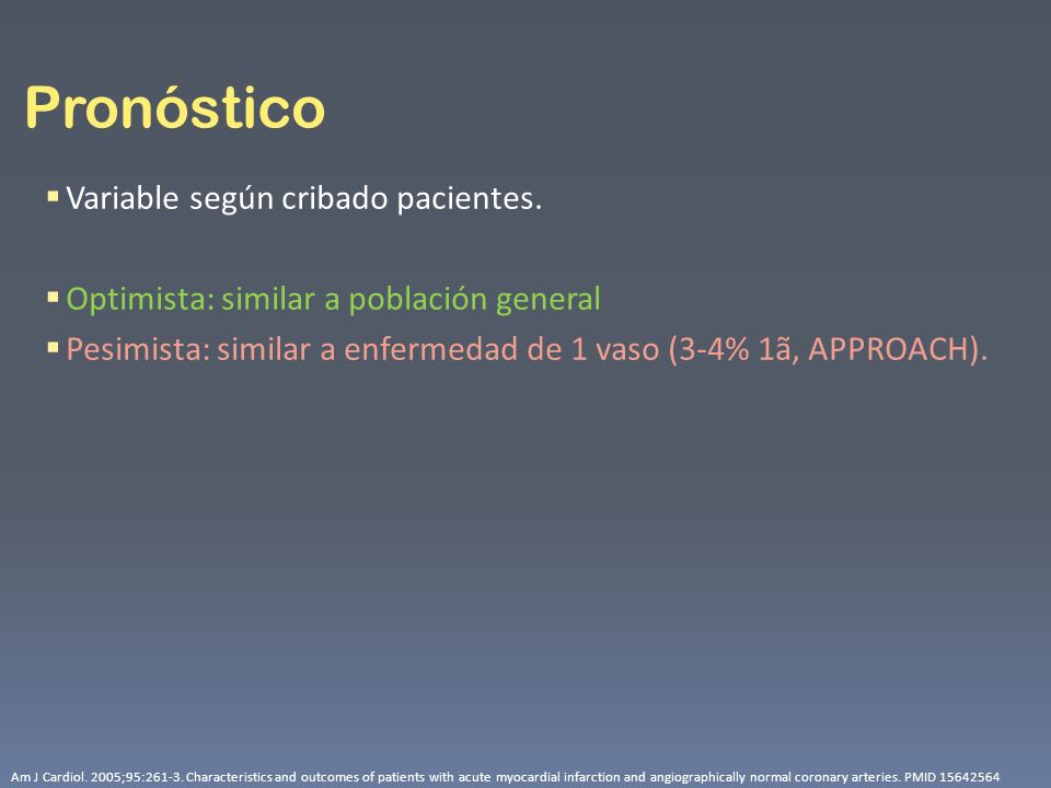 Pronóstico Variable según cribado pacientes.