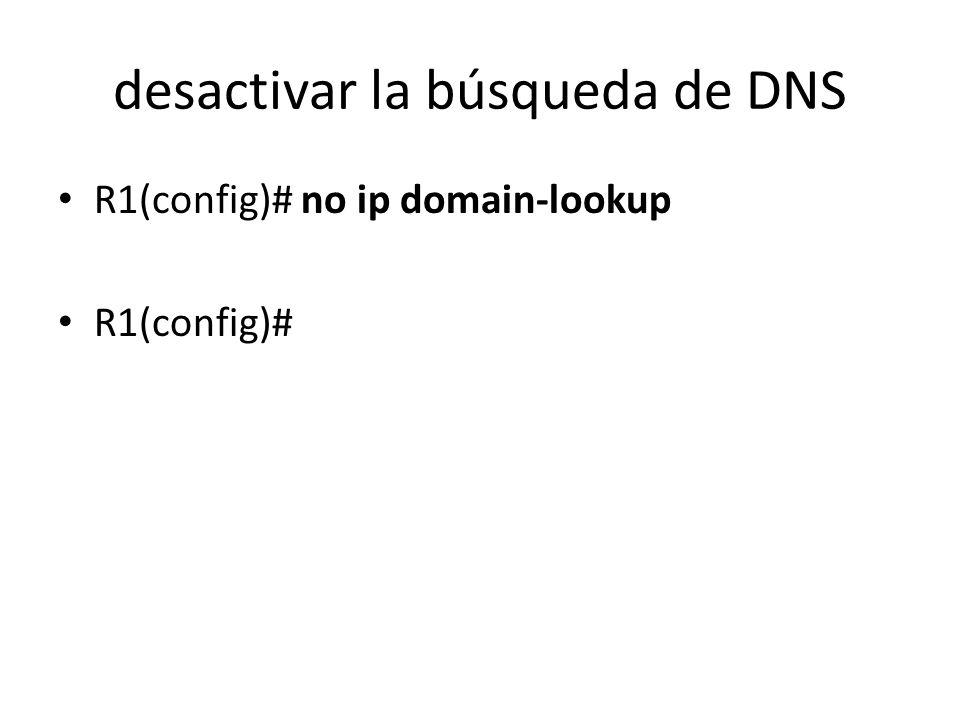 desactivar la búsqueda de DNS