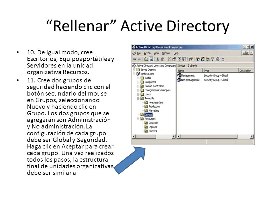 Rellenar Active Directory