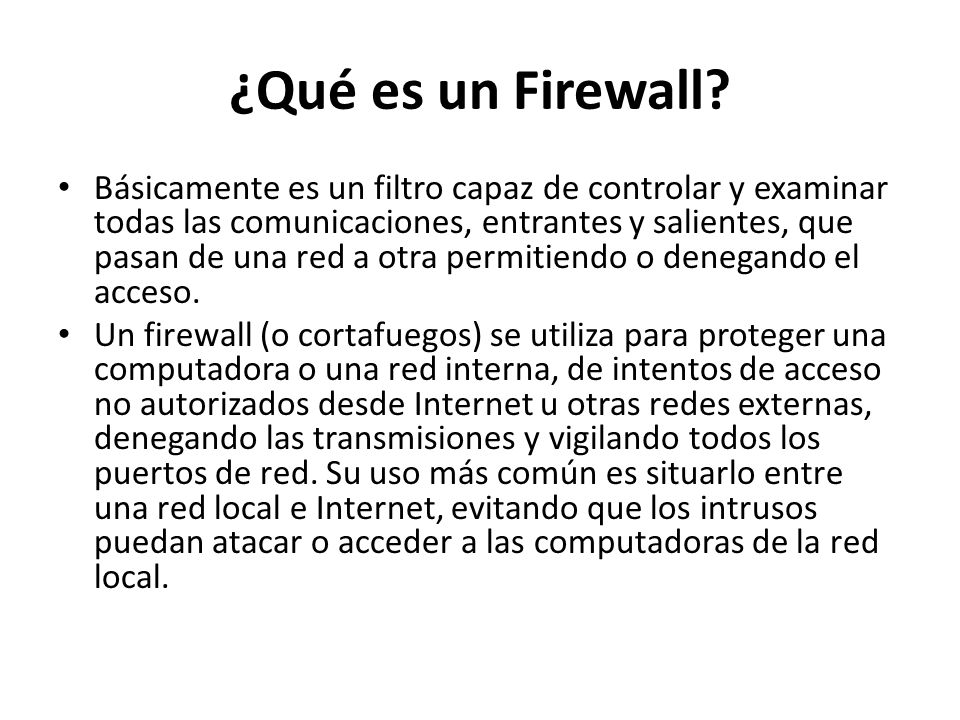 ¿Qué es un Firewall