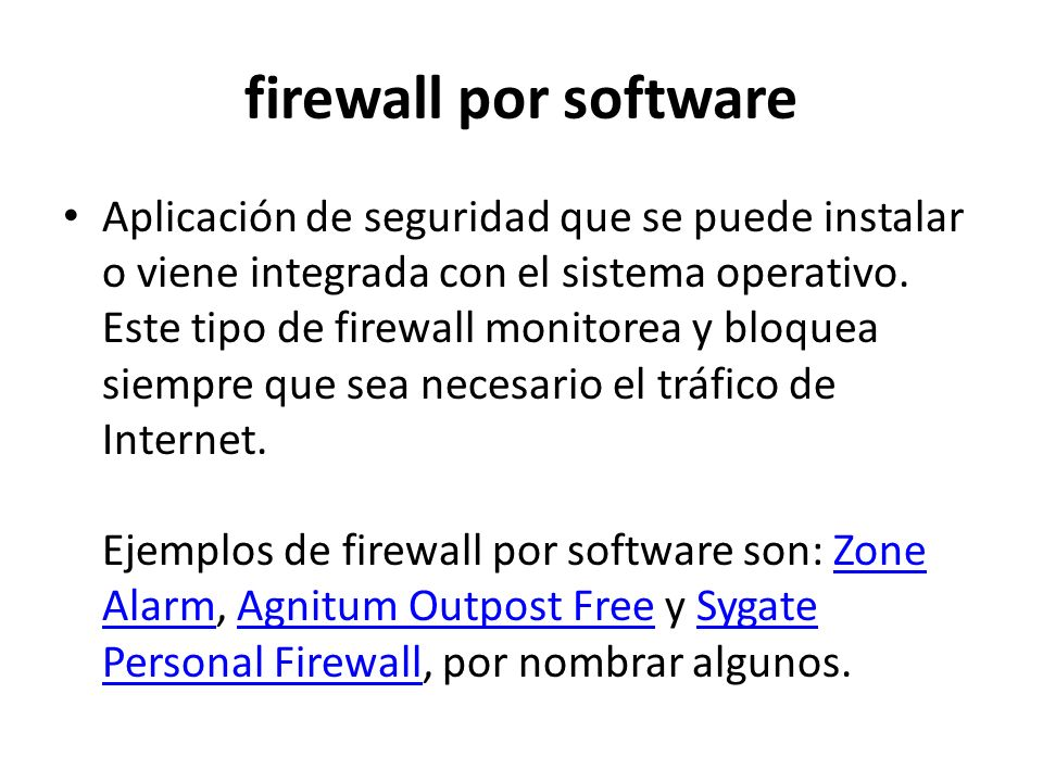 firewall por software