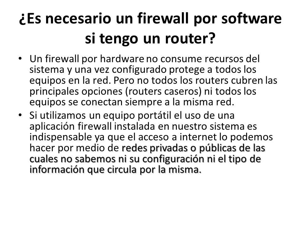 ¿Es necesario un firewall por software si tengo un router