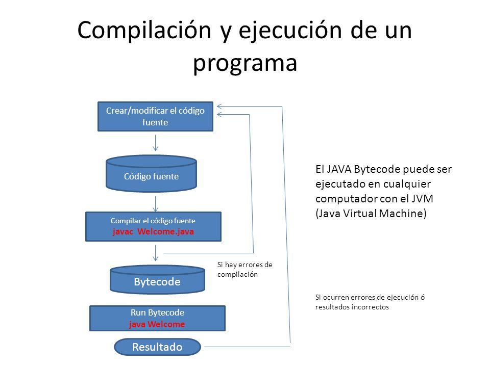 Compilación y ejecución de un programa