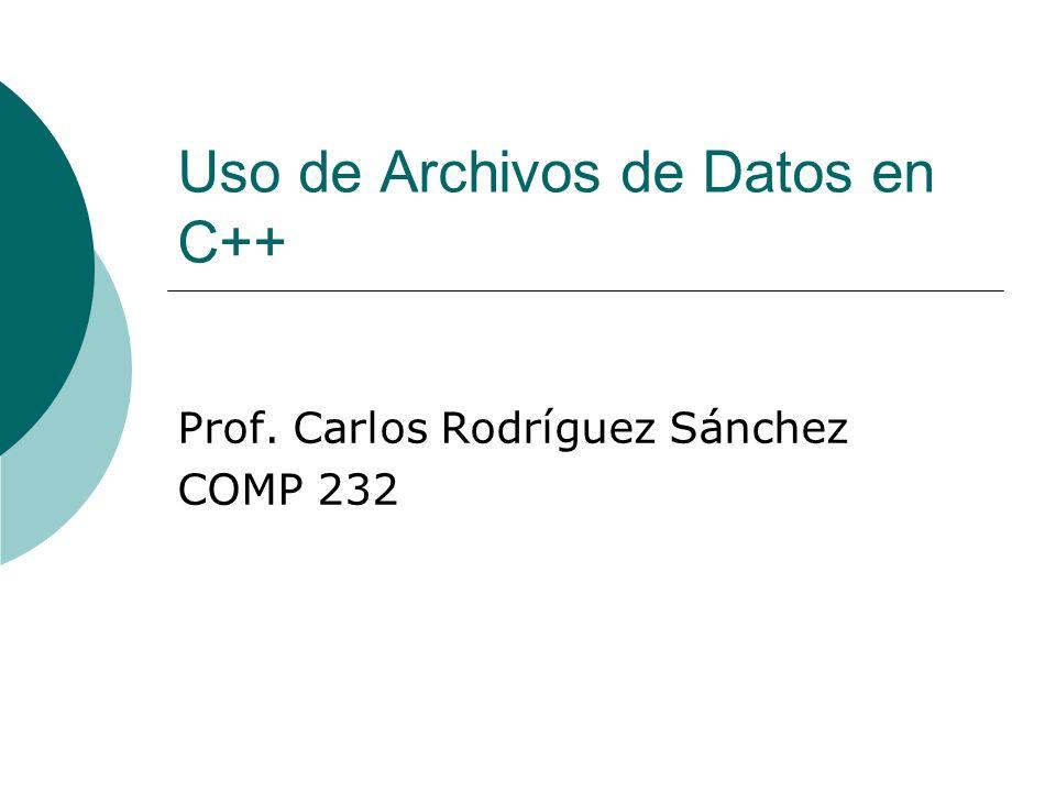 Uso de Archivos de Datos en C++