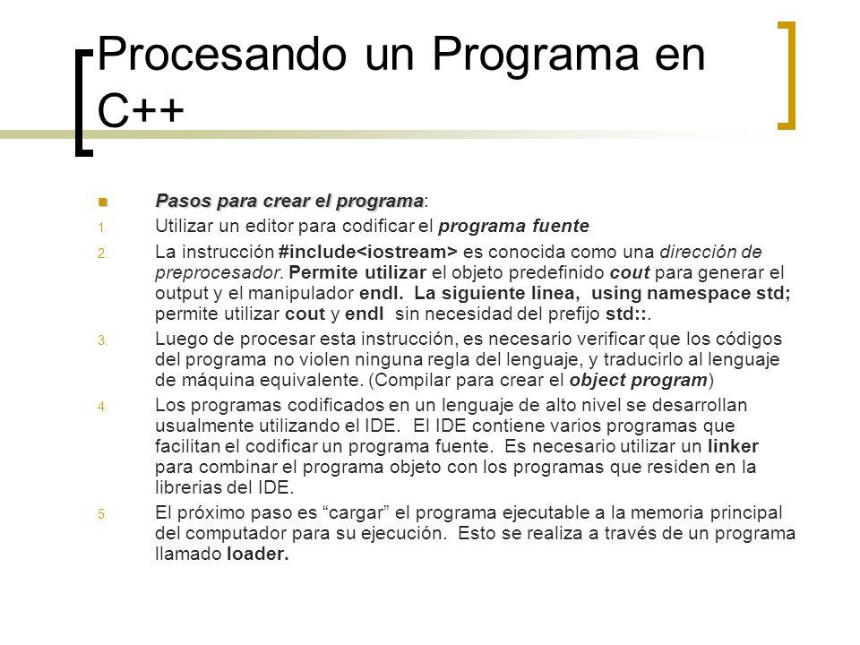 Procesando un Programa en C++